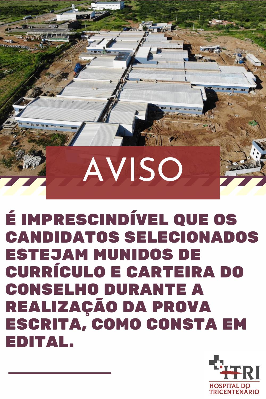 Aviso Importante Sobre a Seleção do Hospital Geral do Sertão Governador Eduardo Campos